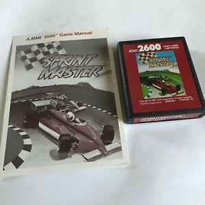 Sprintmaster / Racing F1 / Cart & Instructions / Atari 2600 Tested & Working