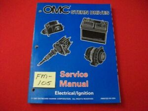 """1998 OMC STERN DRIVES-ELECTRICAL/IGNITION """"BY"""" SERIES SERVICE MANUAL #501200 EXC"""