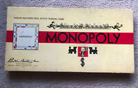 VTG Monopoly Board Game 1954 Parker Brothers Complete Except a Few $100s & $500s