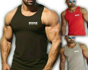 Mens Gym Vest T Shirt  Bodybuilding Top Workout Clothing  BEBAK Gym Clothing MMA