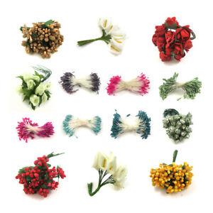 STAMEN MINI BOUQUET SUGAR CRAFT *34 STYLES* ARTIFICIAL FLOWER CAKE DECORATIONS