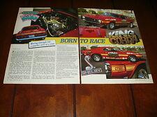 1969 SHELBY GT500 DRAG RACE CAR KING COBRA ***ORIGINAL 1989 ARTICLE***