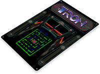 Tron Arcade Sign, Classic Arcade Game Marquee, Game Room Tin Sign A654