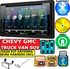 CHEVY-GMC TRUCK-VAN-SUV Cd/Dvd/ Bluetooth DOUBLE DIN DASH KIT Car Radio Stereo
