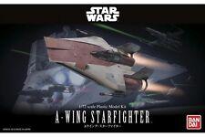 Star Wars Plastic Model Kit 1/72 A-WING STARFIGHTER Bandai Japan NEW **