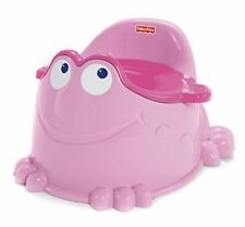 Fisher-Price Froggy Friend Potty in Pink Built in Splash Guard Removable Bucket