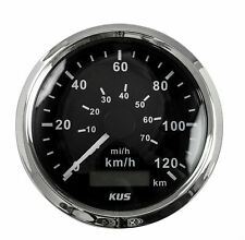 Speedometer 0-120 km / h, the black dial, stainless steel rim, d. 85 mm KY08000