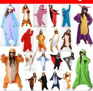 Unisex Adult Pajamas Kigurumi Anime Cosplay Costume Animal Onesis Sleepwear US