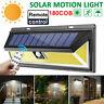 118 LED Solar Powered PIR Motion Sensor Wall Security Light Garden Outdoor Lamp