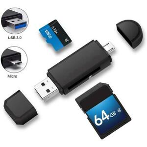 Micro USB + USB OTG Kartenleser USB3.0 Speicherkarte Adapter Für PC Handy