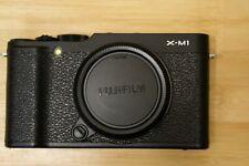 FUJIFILM X-M1 APS-C 16MP BLACK CAMERA BODY w/ Extras! (EXCELLENT!)