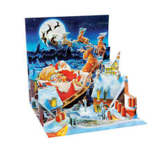 Up with Paper Pop Up Greeting Card - Santa's Sleigh Ride