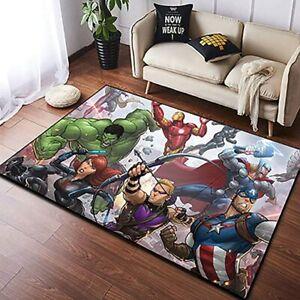 The Avengers Super Heros Area Rug Living Room Bedroom Non-Slip Carpet Floor Mat