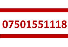 1118 VODAFONE SIM CARD GOLD EASY PLATINUM VIP MOBILE PHONE NUMBER 07501551118