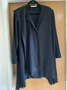 Jacques Vert Plus Black Jacket with Scarf Size 18