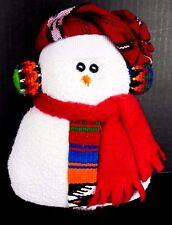 SNOWMAN CHRISTMAS DECORATION ORNAMENT FIGURINE COTTON FLANNEL MULTI-COLOR NEW