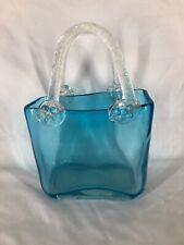 Art Glass Handbag With Handles (ref T273)