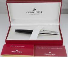 CARAN d'ACHE CdA Leman Black Lacquer Fountain Pen M (used) FREE SHIPPING