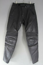 CLASSIC RICHA BLACK LEATHER BIKER TROUSERS: WAIST 30 INCH/INSIDE LEG 30 INCH