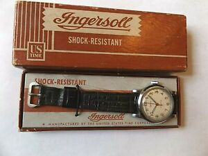 VTG INGERSOLL No.32071 WRISTWATCH IN BOX<>WATCH MANUFACTURED BY US TIME CORP.<>