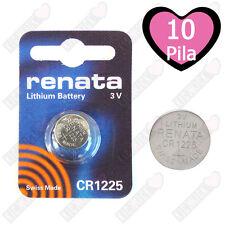 10 CR1225 Renata Batteria, Cella Singola,Pila al Litio,48 mAh 1225