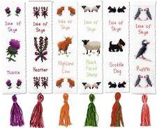 BOOKMARK KITS, Scottish Cross Stitch, Thistle, Heather, Sheep, Cow, Dog & Puffin