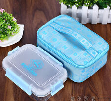 Doraemon Glass Lunch Box Food Container Microwave Oven Bento include Bag