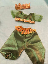 """Fits 15"""" 16"""" Baby Alive Doll Girl Clothes Green Princess Jasmine Genie Costume"""