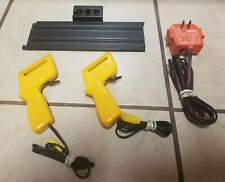 AURORA AFX TERMINAL TRACK, 2 CONTROLS & POWER PACK ~ TESTED ~ ALL WORKING !