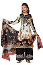 Indian Pakistan Cotton Rayon Salwar Kameez Palazzo Fully Stitched Lawn Suit Set