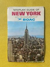 More details for boac - vintage mini plan guide of new york vgc - rare