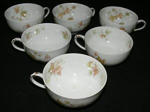 Haviland & Co.  Limoges France Autumn Leaf 6 Tea / Coffee Cups