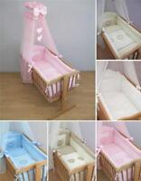 9 Pezzi Lettino Bambini Letto Set 90 x 40 cm Per Oscillante /A dondolo Culla