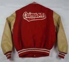 Rare Vintage High School DELONG J-Ville Crimsons Soccer Varsity Jacket 1990 46