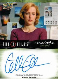 Upper Deck X-Files UFOs & Aliens Gillian Anderson Dana Scully Auto Autograph