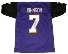 DAVID JOHNSON SIGNED AUTOGRAPHED UNI NORTHERN IOWA PANTHERS #7 PURPLE JERSEY JSA