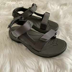 $160 NIB Men's Size 9 Teva Tanway Strap Sandals in Dark Gull Gray