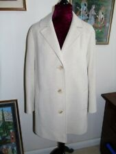Vintage 1970's Ladies Wool and Camel Hair Cream Car Coat size 16