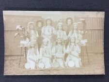 Vintage Postcard: Real Photo: Anonymous Group: #A127: Children Tambourine