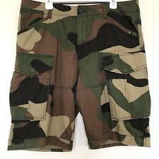 G Star Raw Mens Size 36 Rovic Loose 1/2 Cargo Shorts Camo Woodland