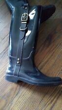 Coach Women's Boots Black Rain Snow Knee High Equestrian Rubber Tristee 9