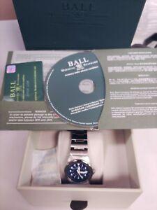 Ball railroader 100m blue dial new