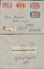 FRENCH SAHARA 1926 REGISTERED to SENEGAL...KOULIKORO...4 COLOUR AOF CAMELS MIXED