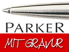 """Parker Kugelschreiber """"jotter"""" Edelstahl mit Goldclip Im Etui"""