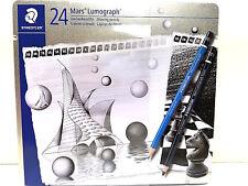 Staedtler Mars Lumograph Pencil in a Metal Box - 24 Pieces