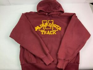 Vintage Men's Minnesota Golden Gopher Track Sweatshirt - Large - Maroon
