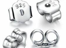 925 Sterling Silver Round Earring Post Back Ear Nut Stopper Jewellery Findings