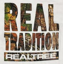 Realtree Tradition Mens White Camouflage Graphic Tee Shirt X Large Cotton Crew