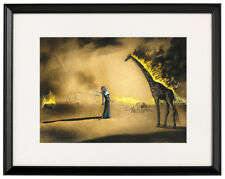 Salvador Dali canvas print Burning giraffe giclee framed art poster
