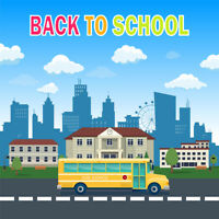 Vinyl Back to School Campus Scenic Backdrop Photography Photo Background 5x5FT